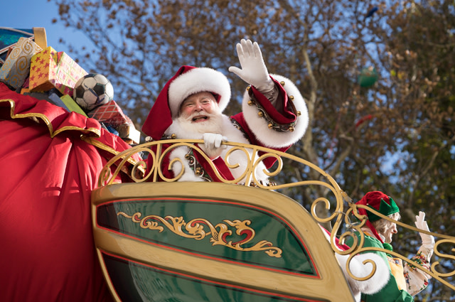 Santa Claus at Macy's Thanksgiving Day Parade