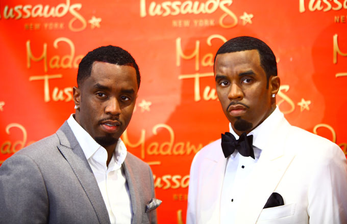 Diddy stands next to his wax doppelganger.
