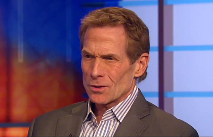 Skip Bayless squints or something.
