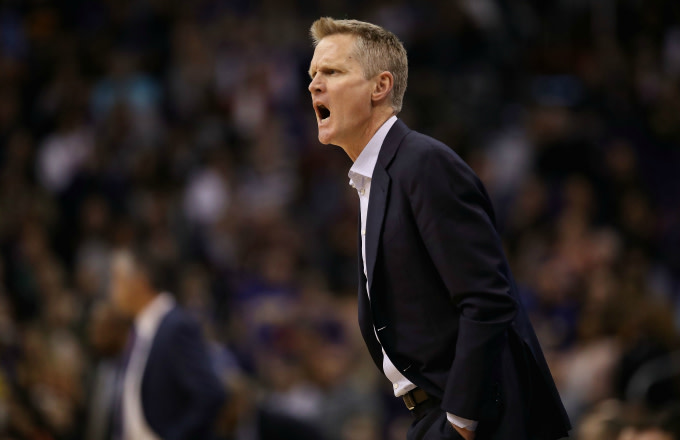 Head coach Steve Kerr of the Golden State Warriors