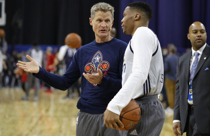 Steve Kerr and Russell Westbrook