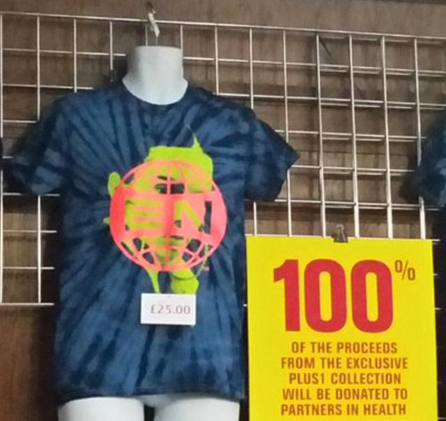 Arcade Fire's Kendall Jenner tour t-shirt