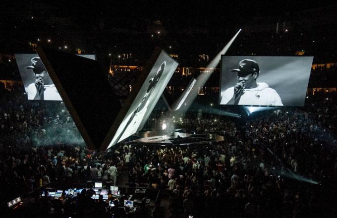 Jay Z 4:44 tour stop in Anaheim, California.