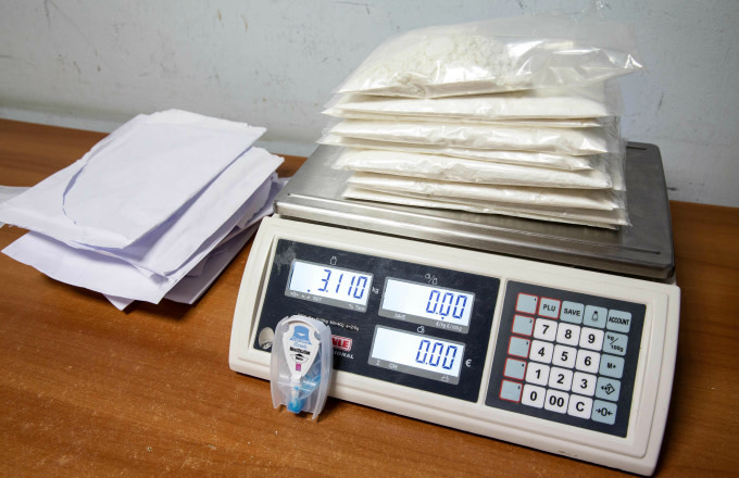 Envelopes filled with more than 3 kg of cocaine