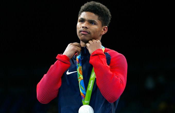 Shakur Stevenson at the 2016 Rio Olympics.