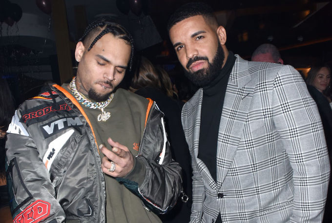 Preview of Unreleased Chris Brown and Drake Track Surfaces