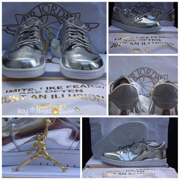 """Air Jordan 1 Low Pinnacle """"Metallic Silver"""""""