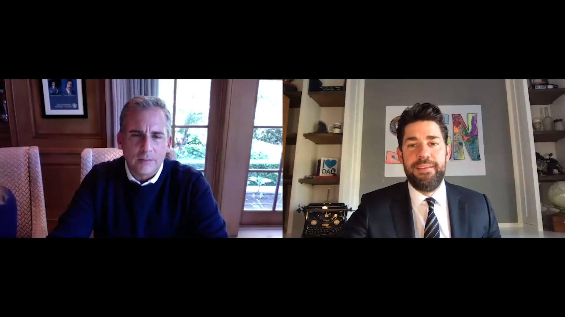 John Krasinski Shares 'Some Good News' YouTube Show With Special Guest Steve Carell