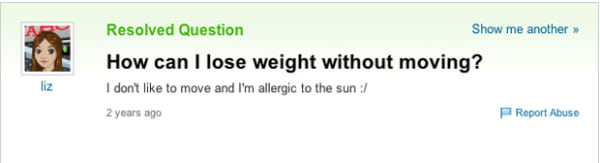 How Can I Lose Weight Without Moving Yahoo Answers