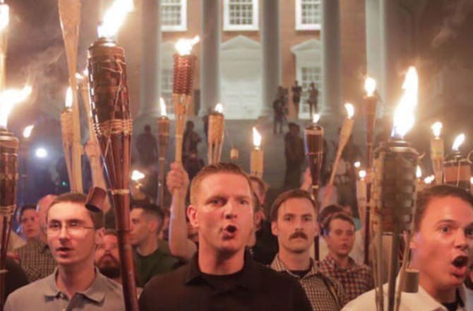 Image result for charlottesville protest tiki torches