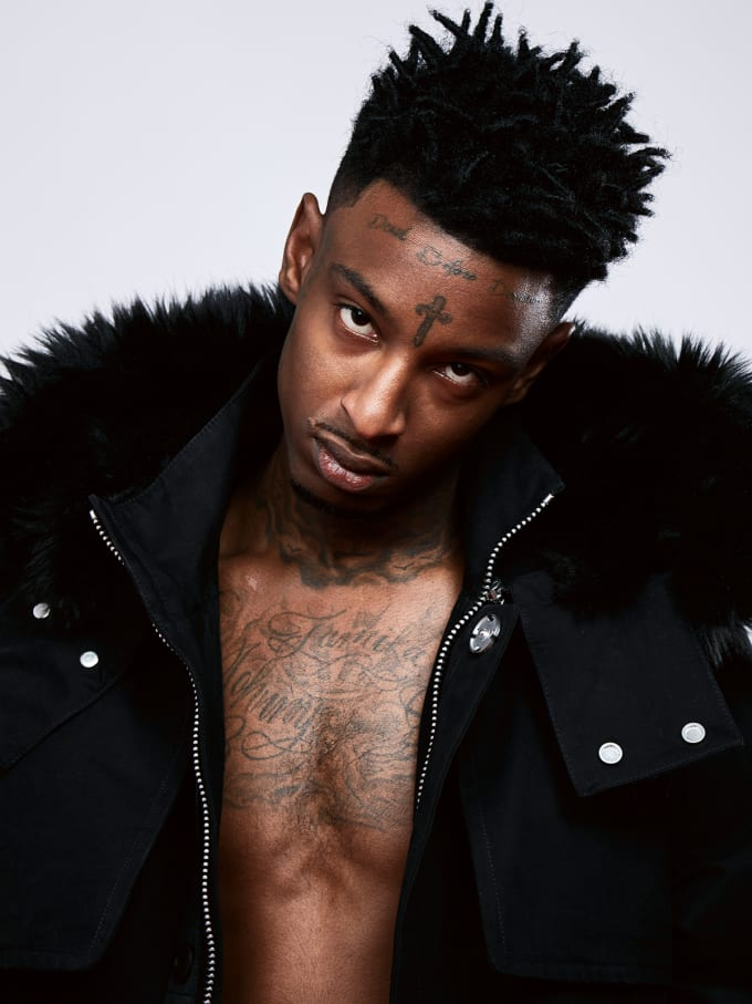 21 Savage Stars in Lookbook Modeling Virgil Abloh39;s OffWhite