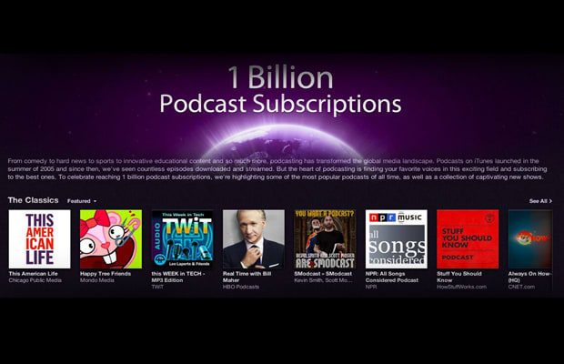 Apple Hits One Billion Podcast Subscriptions