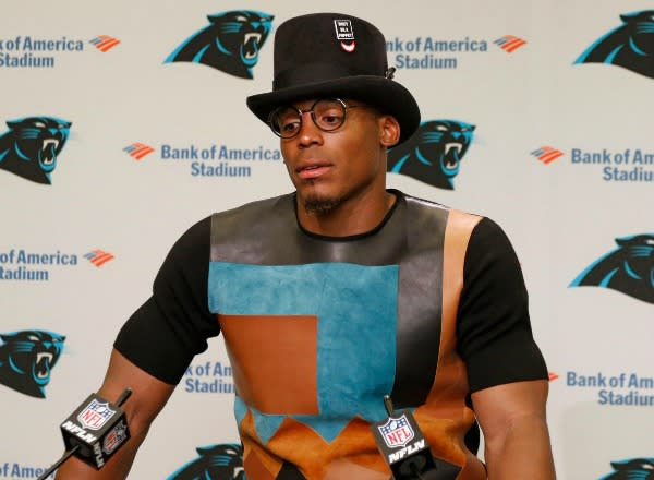 Cam-newton-top-hat-panthers-press-conference