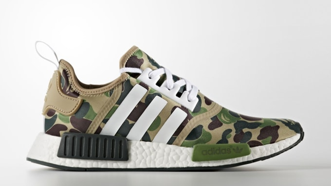 Adidas NMD x BAPE Olive Camo Sole Collector Release Date Roundup