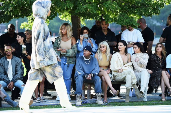 Front row at the Yeezy Season 4 presentation