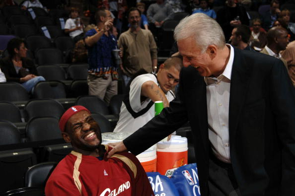 Image result for gregg popovich lebron james