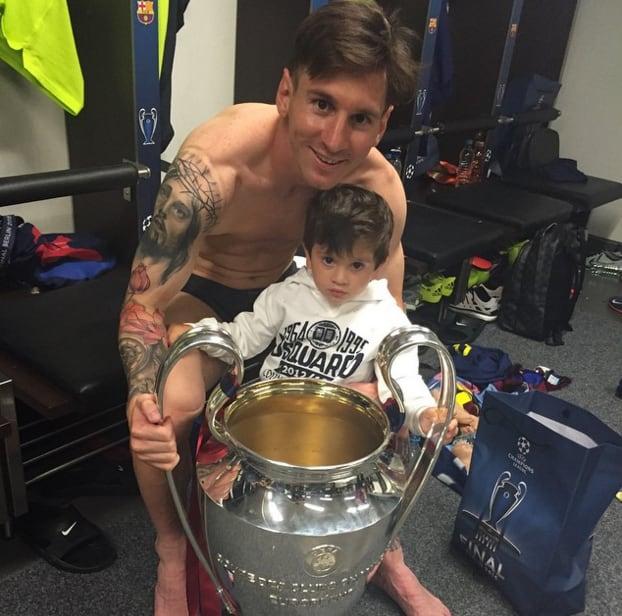 Lionel and Thiago Messi