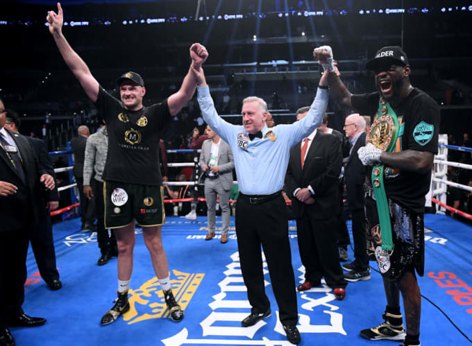 Tyson Fury Deontay Wilder Dras 2018 Getty Ref