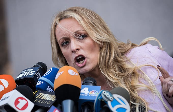 This is a photo of Stormy Daniels.