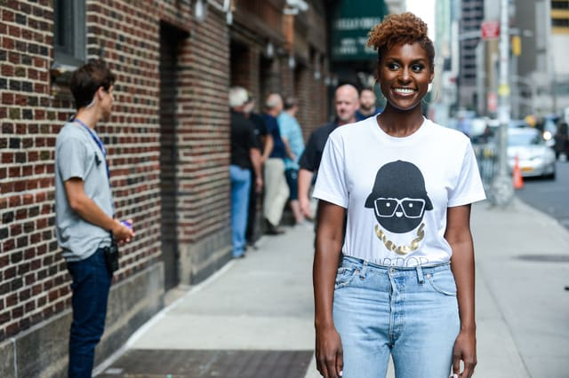 Issa Rae enters the 'The Late Show With Stephen Colbert' taping