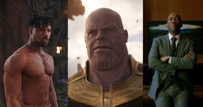 Killmonger, Thanos, and Cottonmouth
