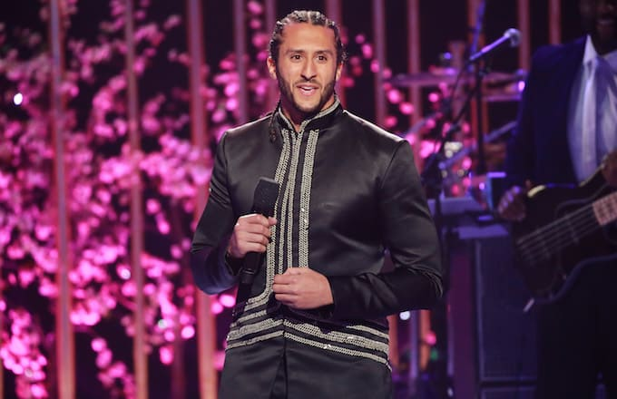 Colin Kaepernick speaks onstage during VH1's 3rd Annual 'Dear Mama: A Love Letter To Moms.'