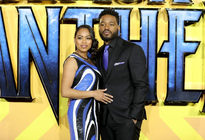 Ryan Coogler and Zinzi Evans attend the European Premiere of 'Black Panther'