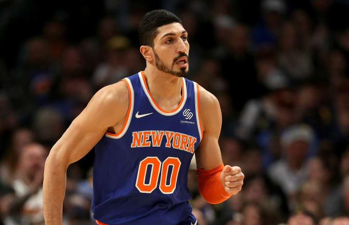 bf91625d408 Enes Kanter  00 of the New York Knicks plays the Denver Nuggets