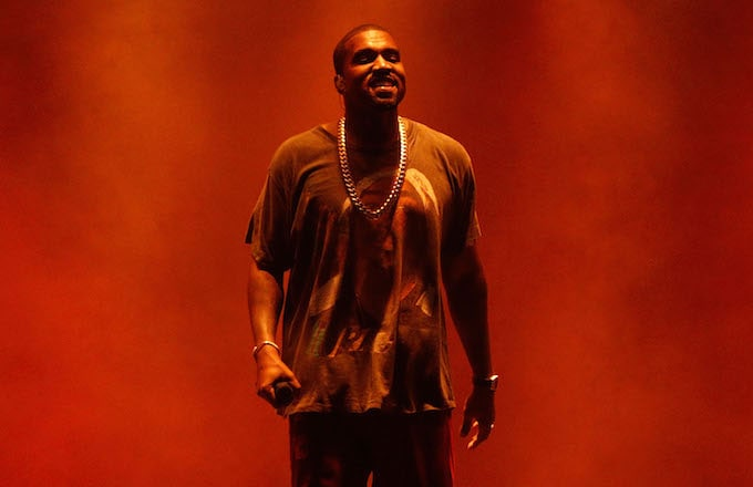 Kanye West performs during The Meadows Music & Arts Festival.