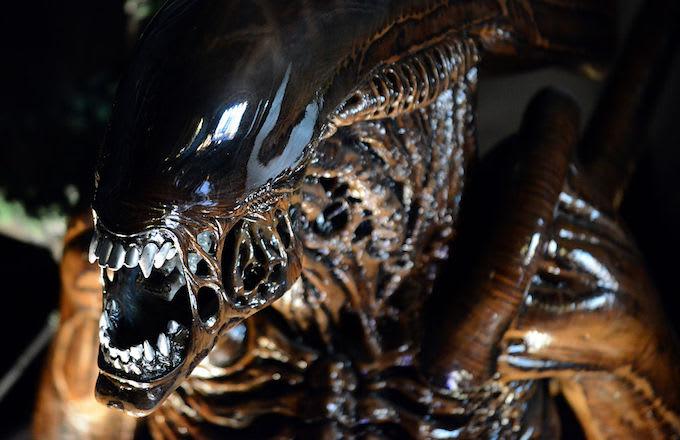 Aliens maternity shoot