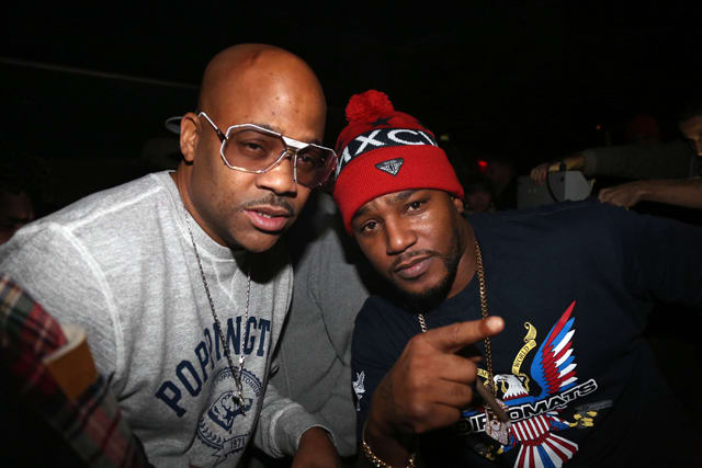 Dame Dash and Cam'ron attend the DipSet U.S.A. x Agenda event