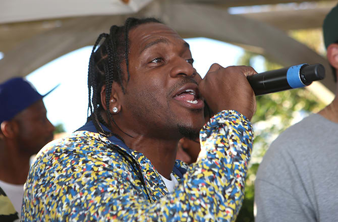 This is a photo of Pusha T.