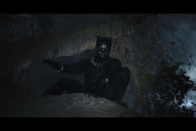A Pantera Negra está em uma árvore