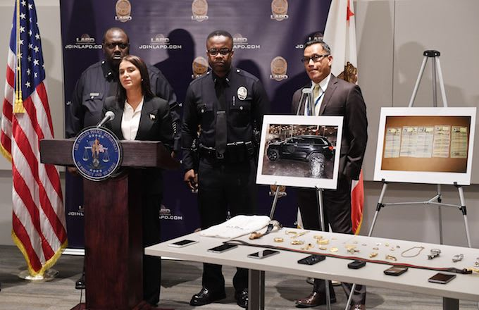LAPD press conference after thwarted burglary plot