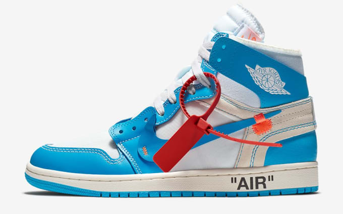 buy online ee1b0 a8883 Off-White x Air Jordan 1 UNC Release Date AQ0818-148 Profile