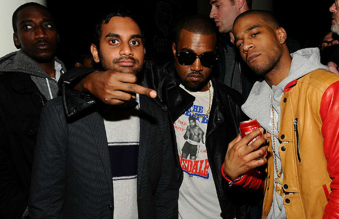 Kanye West and Aziz Ansari