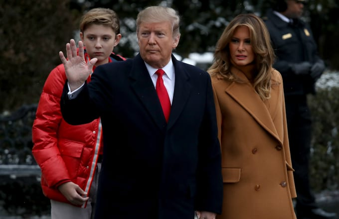 President Donald Trump departs the White House