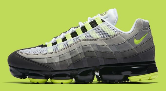 308d808c89f22 Nike Air VaporMax 95 Black Volt Medium Ash Dark Pewter Dusk Granite Release  Date AJ7292-