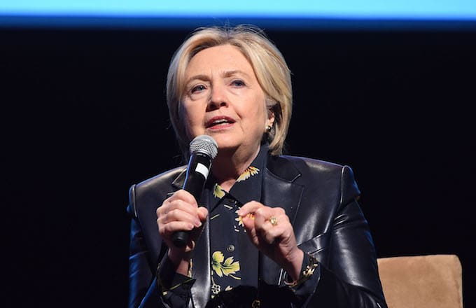 Hillary Clinton at the LA Promise Fund's Girls Build Leadership Summit