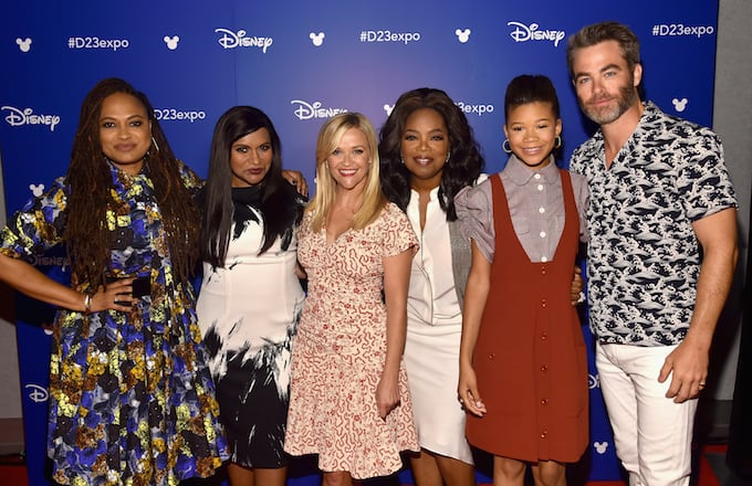 'A Wrinkle in Time' director Ava DuVernay and cast members.