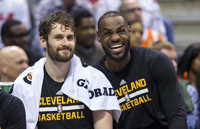 a9567ac8122 LeBron James Clowned Kevin Love on Twitter Over His Wack-Ass High ...