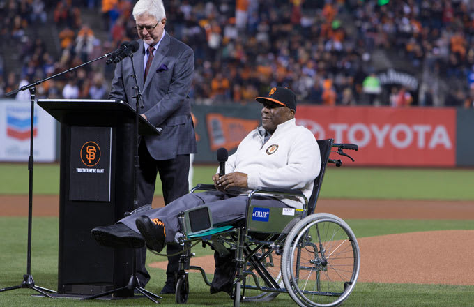 Former Giants great Willie McCovey.