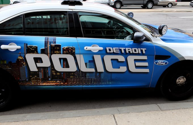 A Detroit police car.