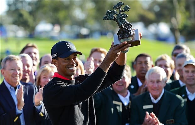 Tiger Woods Wins for the 8th Time at Torrey Pines