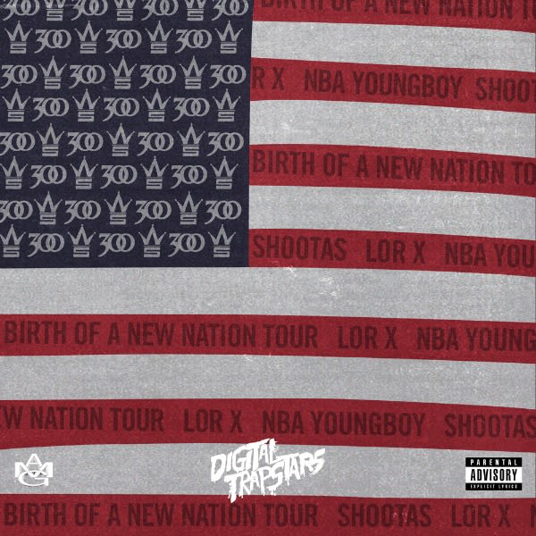 This is the cover art for 300's 'Bonn Tour' mixtape.
