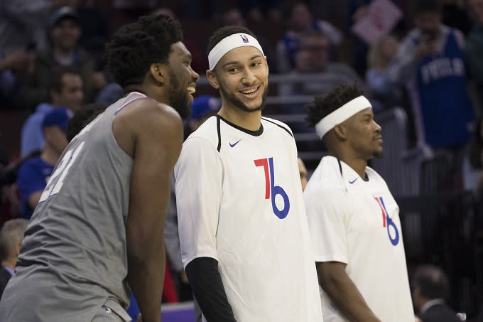 Ben Simmons and Jimmy Butler Wore Matching Headbands Because They re   Defensive Brothers  96be610fe
