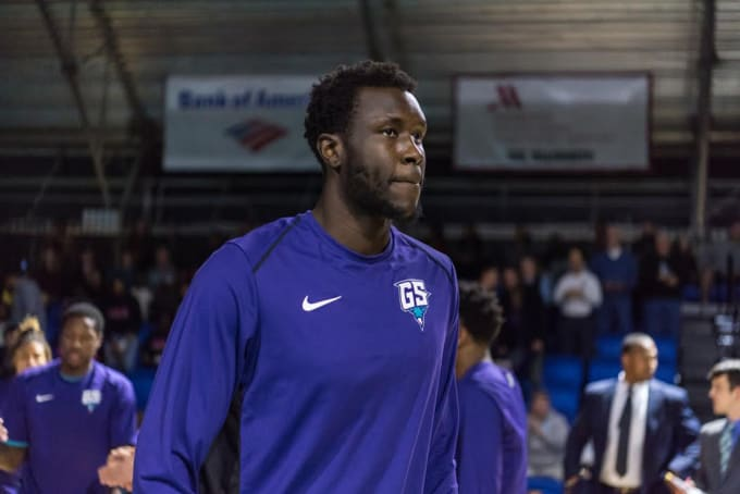 NBA prospect Mangok Mathiang. Photo courtesy of Greensboro Swarm.