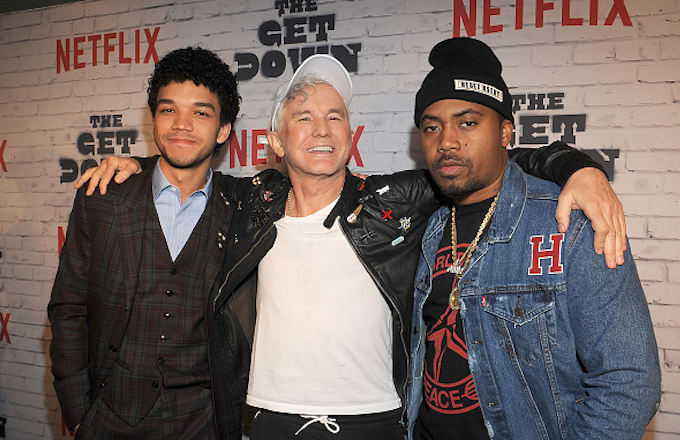 Actor Justice Smith, Baz Luhrmann and Nas attend 'The Get Down' Part 2 Party