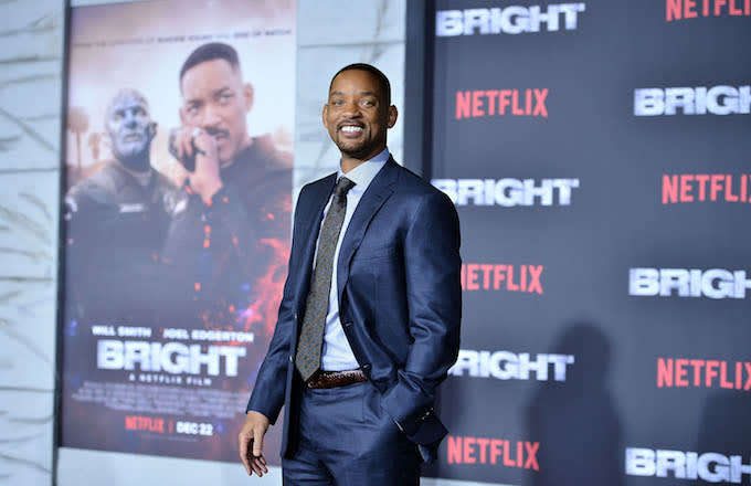 Will Smith at the premiere of 'Bright'