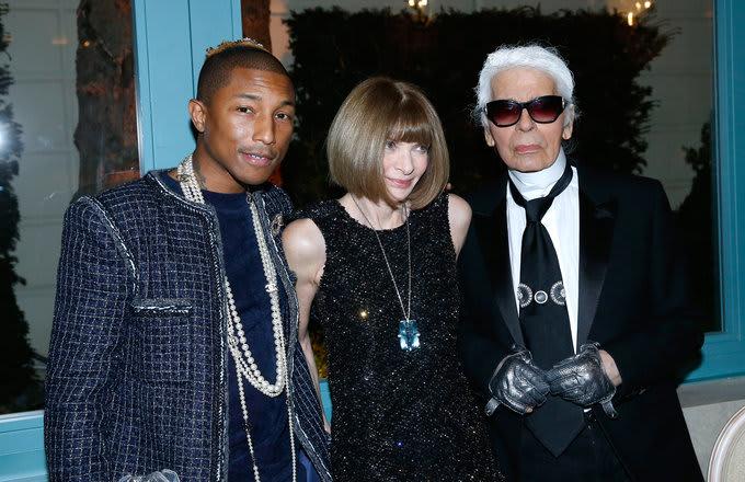 Pharrell, Anna, Karl in Paris